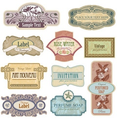 Antique lables vector