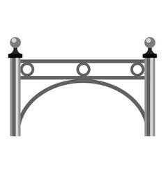 Beautiful fence icon cartoon style vector