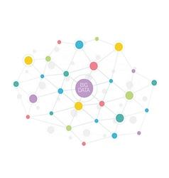 Big data abstract molecule vector