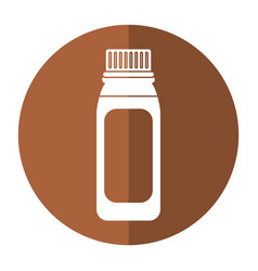 Bottle medicine healhy care icon shadow vector