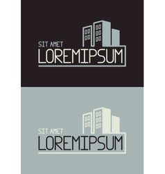 Buildings icon or logo template vector