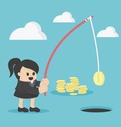 Businesswoman investment concept vector