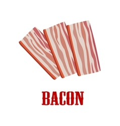 Cartoon bacon isolated on white vector image