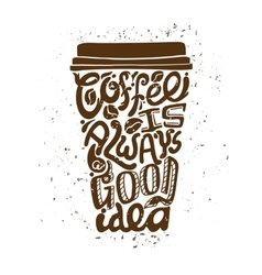 Coffee to go art composition vector