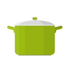 cooking pot isolated vector image