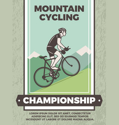 Design template of vintage poster for bicycle club vector