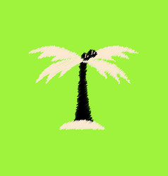 flat icon design collection palm tree silhouette vector image vector image