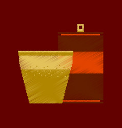 Flat shading style icon pixel can of soda and vector