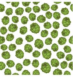 green artichoke seamless pattern vector image vector image