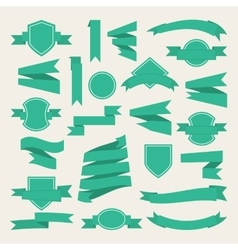 Green ribbonslabe vector image