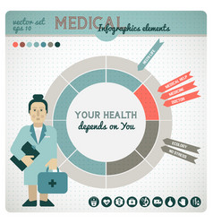 health colored infographic vector image