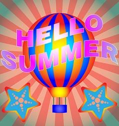 Hello Summer Banner vector image vector image