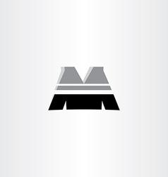 letter m black icon design vector image