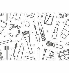 makeup tools seamless pattern vector image vector image