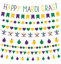 mardi gras banners vector image vector image