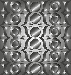Metal circle rings pattern vector image vector image