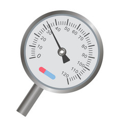 metal thermometer with round scale and thin vector image