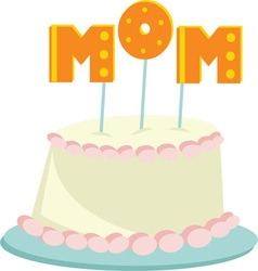 Mom Cake vector image vector image