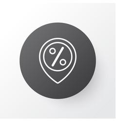 sales location icon symbol premium quality vector image