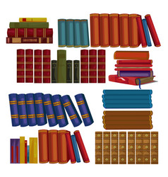 set of ancient books encyclopedias volumes vector image