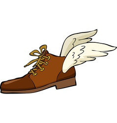 Shoes with wings vector