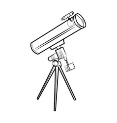 sketch telescope icon vector image