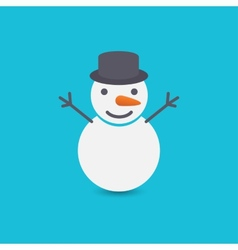 Snowman on blue background vector image