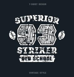 Superior striker emblem vector