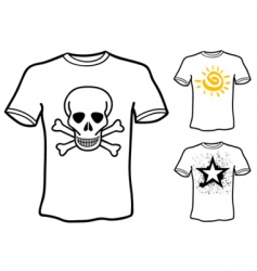 t shirt designs vector image vector image