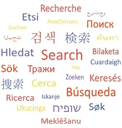 Tag cloud or speech bubble search vector