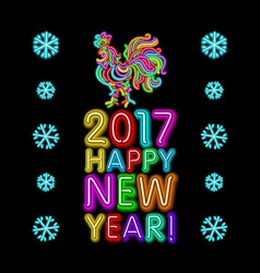 The rooster new year greeting card design template vector image vector image