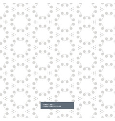 White background with gray floral pattern vector
