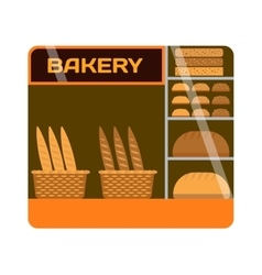 Bakery shop showcase vector