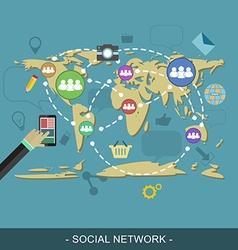 Social network web design concept editable for vector