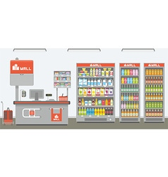 supermarket interior vector image