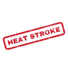 Heat stroke text rubber stamp vector