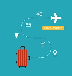 Travel concept flat design business trip holiday vector