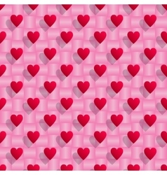 Red hearts seamless valentine background vector