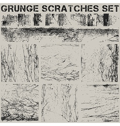 Grunge scrtaches set vector
