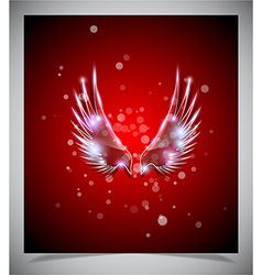 Abstract red background with glass wings vector