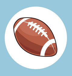 American football ball equipment icon vector