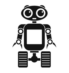 robot on wheels icon simple style vector image