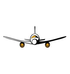 airplane icon cartoon vector image
