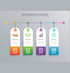 infographics tag banner 4 option template vector image
