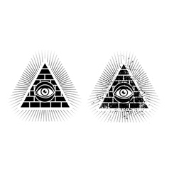 eye pyramid icon vector image