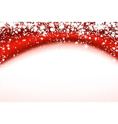 Christmas red wavy background with stars vector