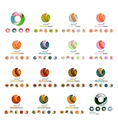 Set of modern circle globe or sphere logo concept vector