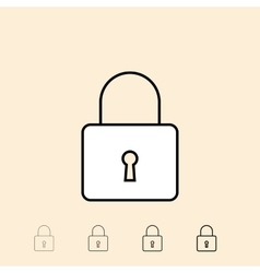 Icon of padlock vector
