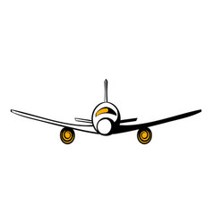 airplane icon cartoon vector image
