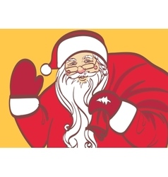art of Santa Claus for any design Eps 10 vector image vector image